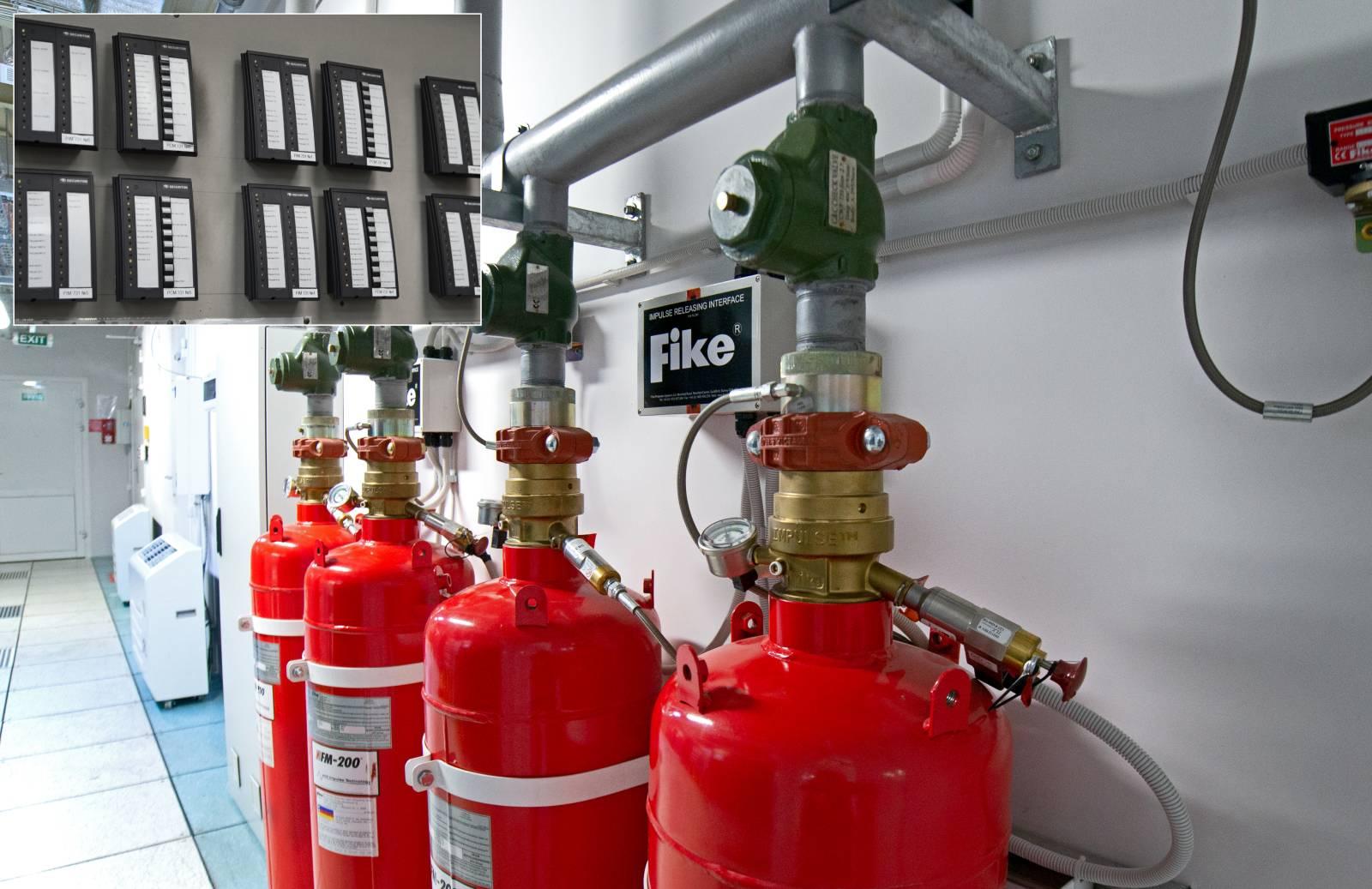 Газовое пожаротушение Н-модулей