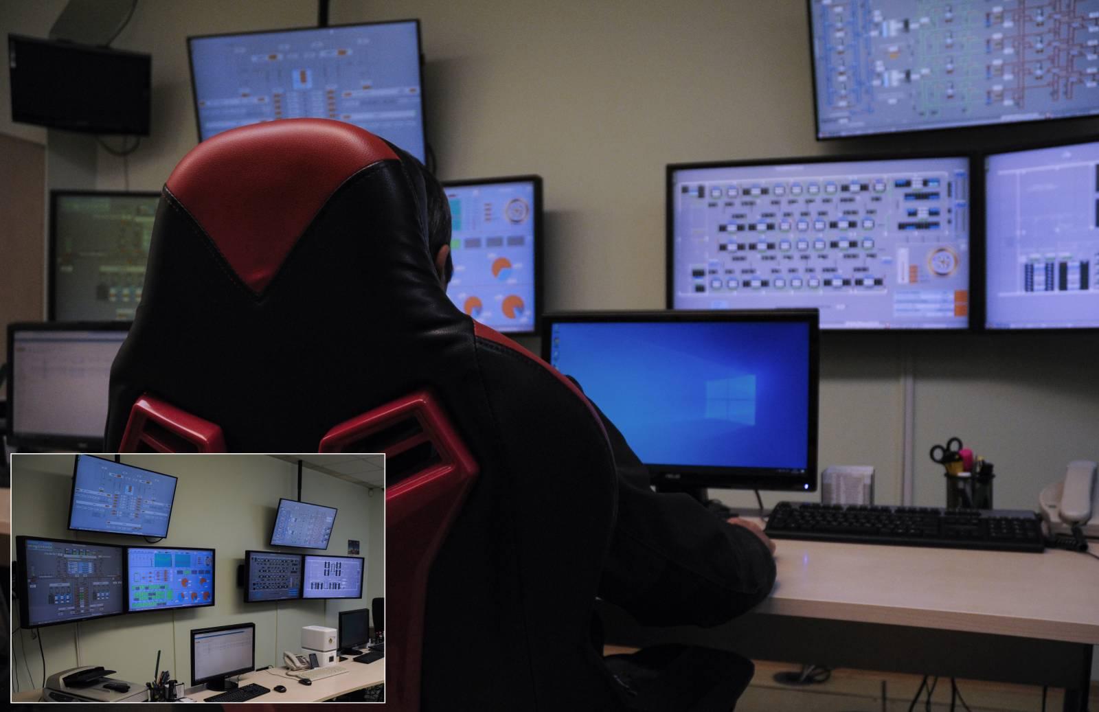 Диспетчерська СЕ що працює 24/7. Контролюється понад 29000 змінних